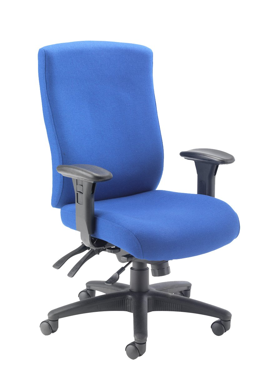 Office Hippo Professional 24 High Back Office Chair, 150 kg Weight Tolerance, 2D Arms, Asynchro Mechanism, Ratchet Back, Fabric, Black TC Group OHS0032BK