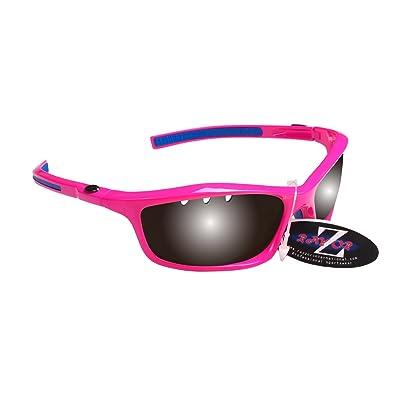 RayZor Professional Lunettes de soleil protection UV400Rose pour Sport Randonnée, ultra léger avec un système anti-goutte fumé Effet miroir anti-reflet Objectif
