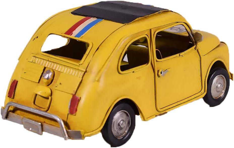 UniqueGift D/écoration de Voiture Miniature en m/étal Jaune 500