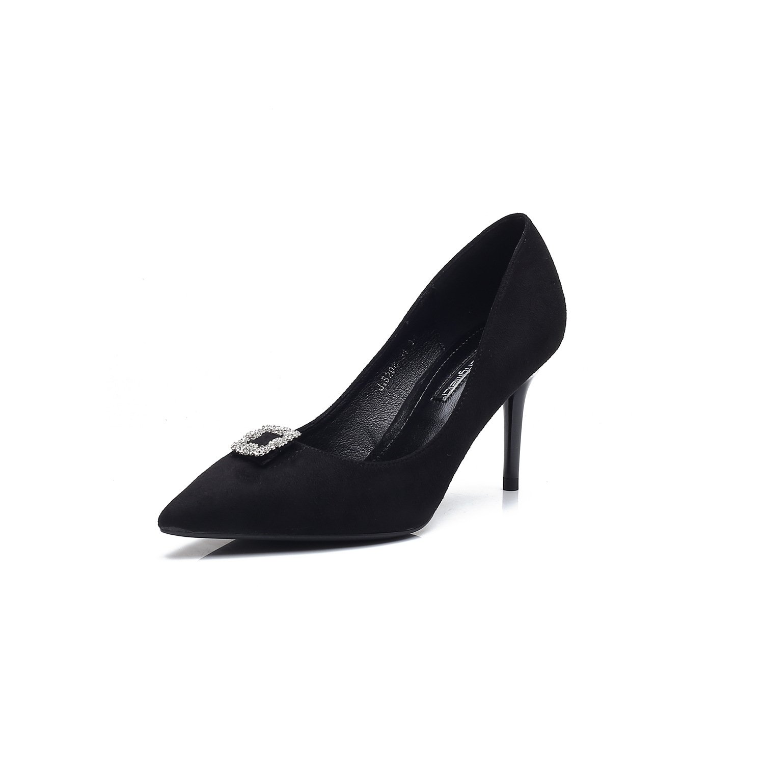 The Fine tip with the high-heel shoes fine with shallow-water drilling for the high-heel shoes temperament single shoes women shoes, Black,39