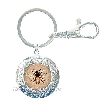Amazon.com: Llavero con forma de abeja de miel – Llavero con ...