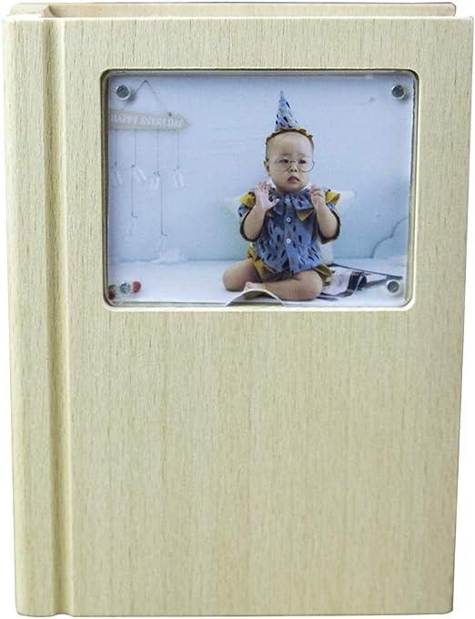 ADbox Bebé Dientes Caja Libro en Forma, Marco de la Foto de Madera ...