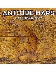 Antique Maps Calendar 2022: 16-Month Calendar, Cute Gift Idea For Antique Map Lovers Women & Men