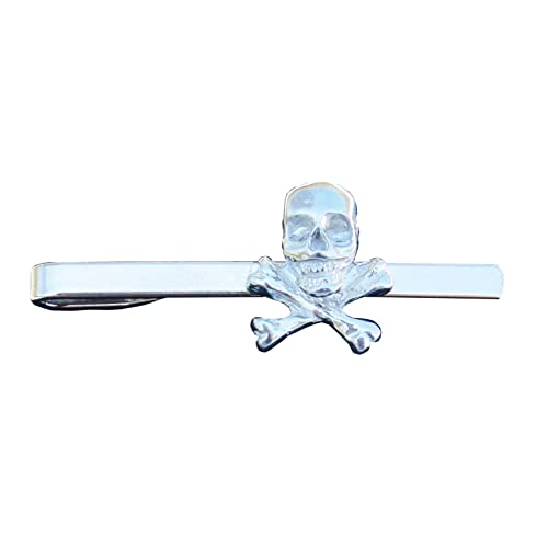 6c0f20f03eec Image Unavailable. Image not available for. Color: Skull and Crossbones  Pewter Tie Clip ...