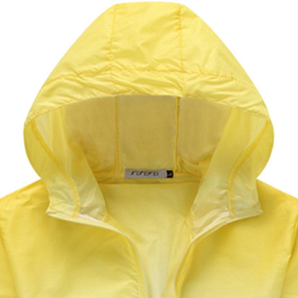Generic Unisex Sonnenshutz Anti UV Leichtbau Windbreaker Windjacke Wasserdicht Schnell Trocknend Windproof Mantel