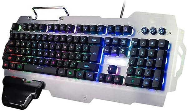 Uokoki Teclado for Juegos RGB Color Mezclado de luz de Fondo ...