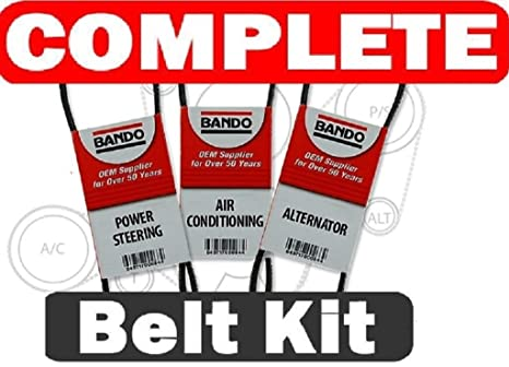 BANDO Toyota 4runner 3 4L V6 1996-2002 Alternator-Air Conditioner-Power  Steering Belt Set(3 belts)BANDO 4PK870 4PK1050 4PK1070