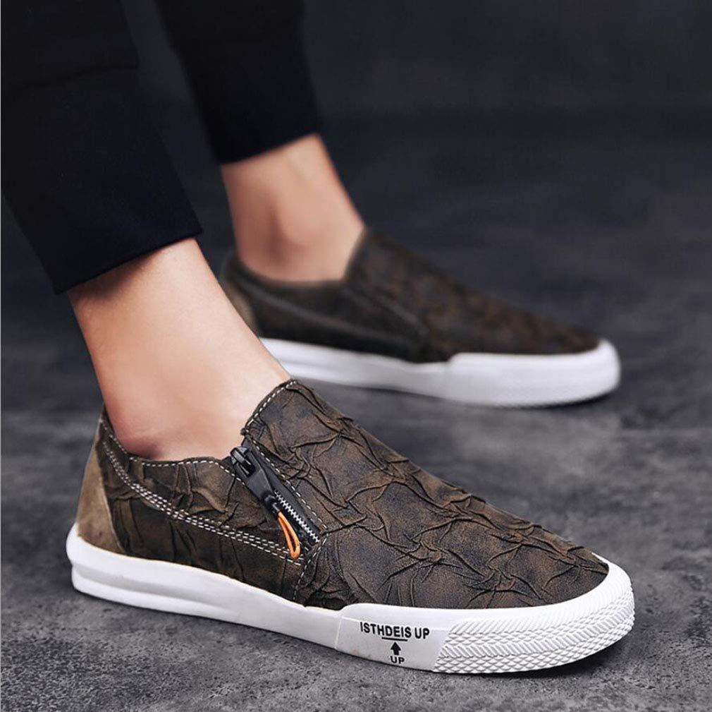 YAN Herren Freizeitschuhe Mikrofaser Mikrofaser Mikrofaser Fashion Loafers & Slip-Ons Gummisohle Fahr Schuhe für Party & Abend im Freien (Farbe   Braun, Größe   40) 840d18