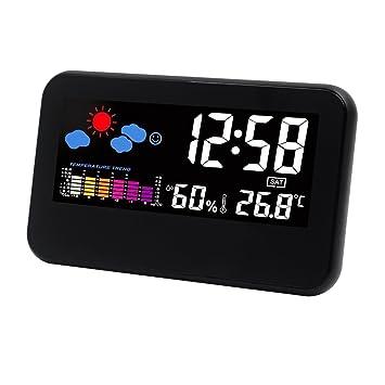 hippih lcd numérique snooze chevet réveil électronique horloge de