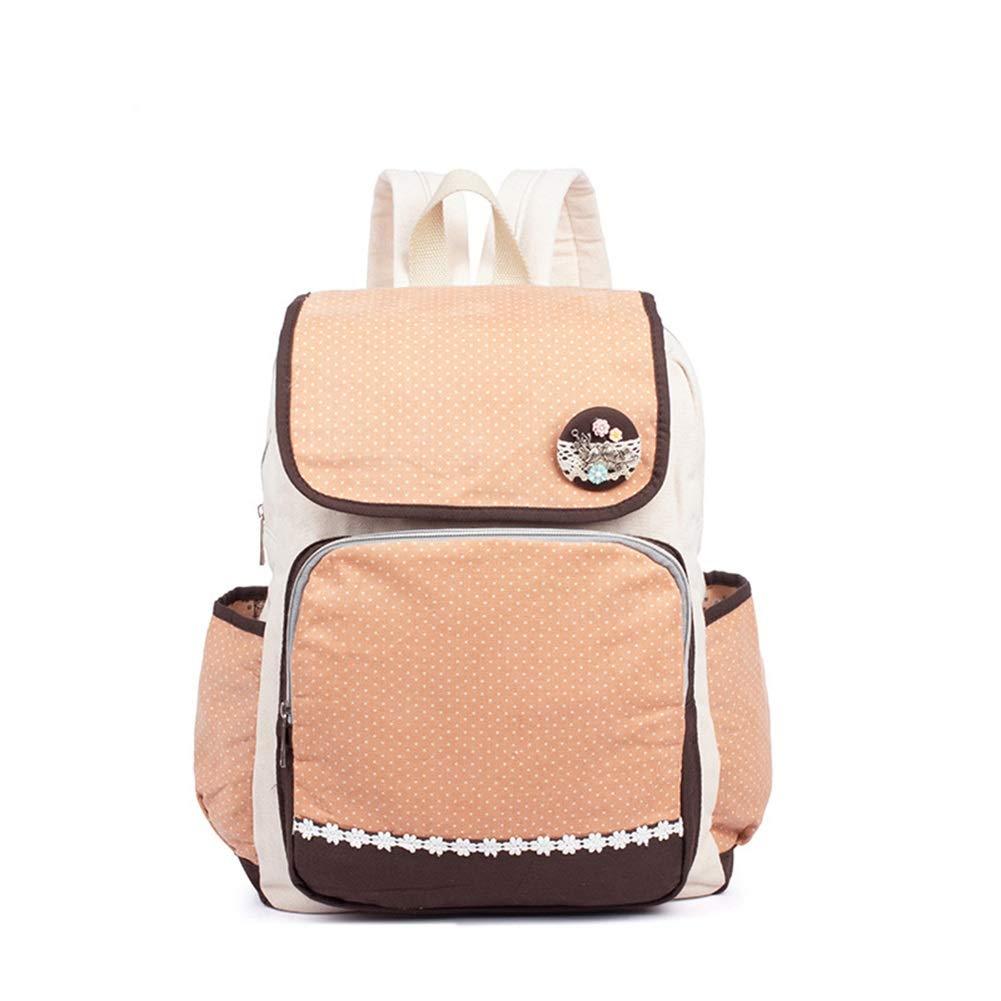 HWX HWX HWX Mochila para portátil Mochila de Lona de algodón Bolsa de Estudiante, Bolso de Viaje de Gran Capacidad para niñas (Color   Rosado, tamaño   39CM30CM12CM) 23702a