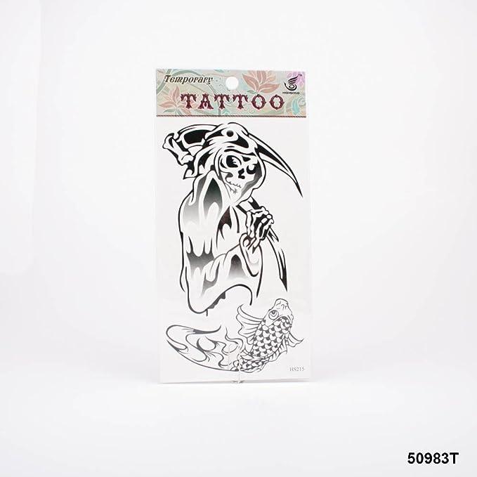 Tatuajes con la Parca Muerte y de peces koi: Amazon.es: Salud y ...
