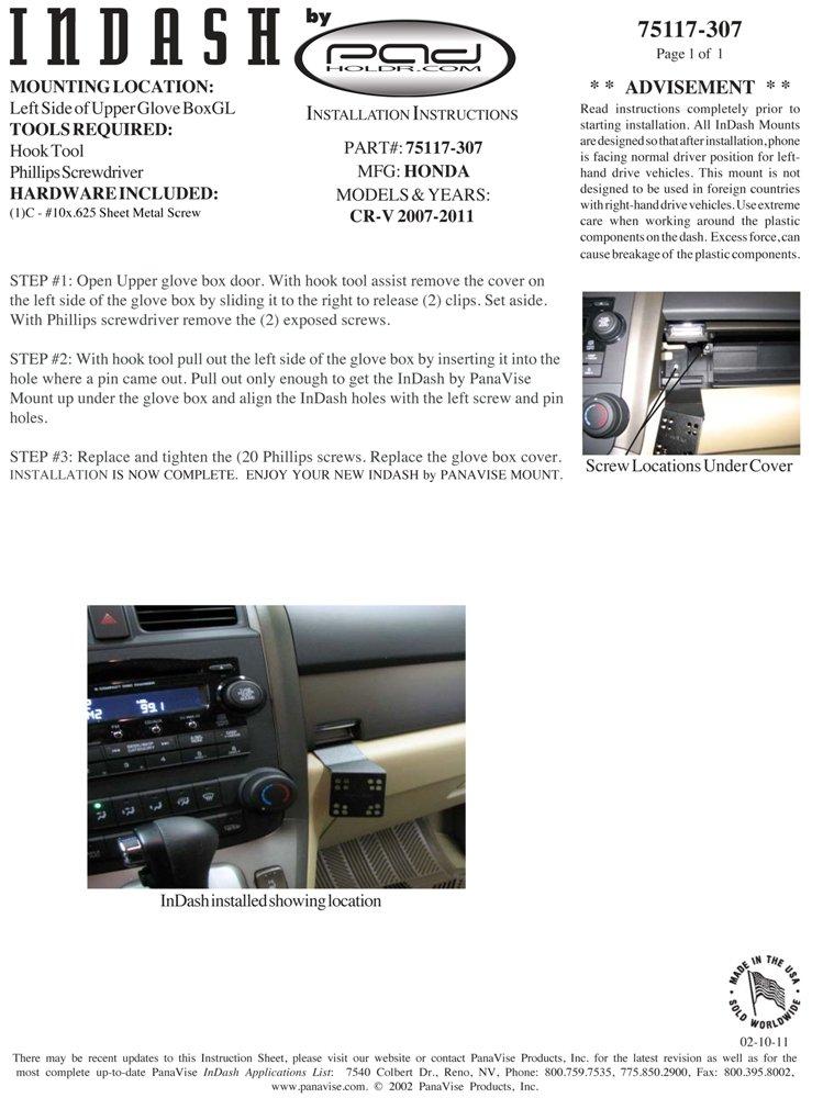 Padholdr Ram Series Spring Loaded Holder for 2007-2012 Honda CR-V
