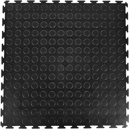 Industrial 8 Pack Show Rooms Garage Gray Greatmats Garage Floor 20 x 20 Inch PVC Coin Top Interlocking Tiles for Warehouse Entrance Ways Flooring Floors