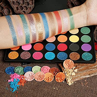 Eyeshadow Makeup Palette, Valuemakers 35 Colors Waterproof & Ultra Pigmented Make-up Eye Shadows- Pressed Glitter and Shimmery EyeShadow Powder Cosmetic Makeup Set