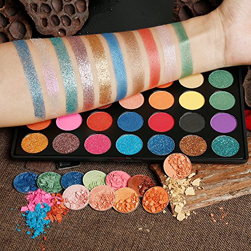 Eyeshadow Makeup Palette, Valuemakers 35 Colors Waterproof & Ultra Pigmented Make-up Eye Shadows- Pressed Glitter and Shimmery EyeShadow Powder Cosmetic Makeup Set by FiveBull (Image #1)