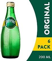 Perrier, Agua Mineral Perrier, 200 mililitros, Paquete de 6