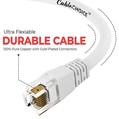 Cat6 Ethernet Cable Computer Network Cable with Bootless Connector UTP CABLECHOICE 20-Pack Available 28 Lengths and 10 Colors 10 Feet - Orange RJ45 10Gbps High Speed LAN Internet Patch Cord