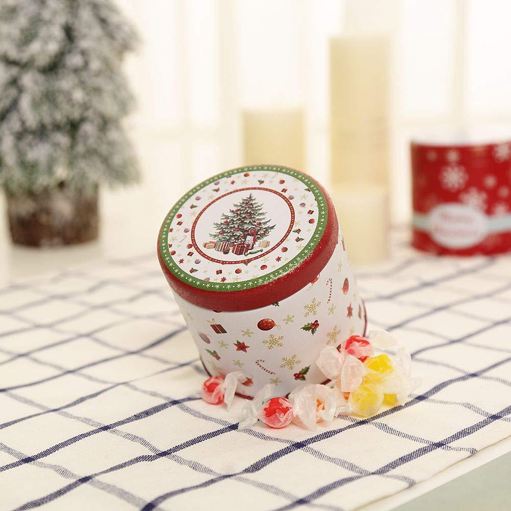 Smartcoco Christmas Cartoon Storage Candy Tin Box Santa Claus Snowman Christmas Tree Tea Storage Organizer Box Xmas Home Decor