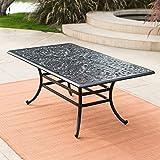 Belham Living San Miguel Cast Aluminum 42 x 72 in. Rectangular Dining Table