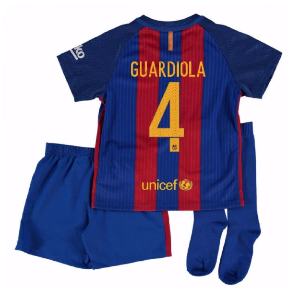 2016-17 Barcelona Home Little Boys Mini Kit (With Sponsor) (Guardiola 4) B01N025U13