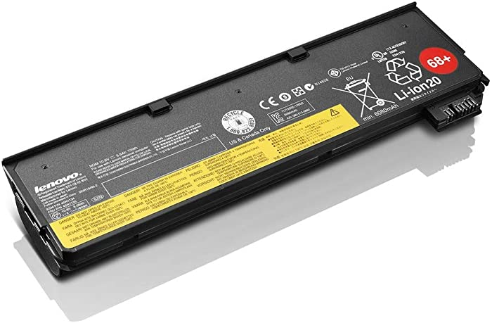Lenovo Lithium Ion ThinkPad Battery 68 + ( Manufacturer P/N ; 0C52862 ) Extended Run Time 6 Cell System Battery, 72Wh, 10.8 v, 0.74 lbs