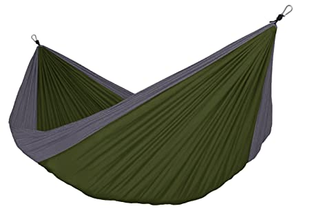 Country Bound Lightweight Double Hammock Nylon Hammock Perfect for Camping, Hiking, Hunting, Backpacking Travel Durable Portable Ripstop Fabric Accommodates 2 Adults