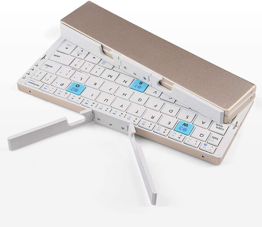 Android and Windows Ultra Slim Mini Foldable Bluetooth Keyboard Compatible with iOS