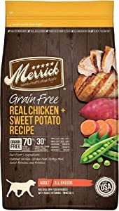 Merrick Grain Free Chicken + Sweet Potato Recipe Dry Dog Food, 4 lbs.