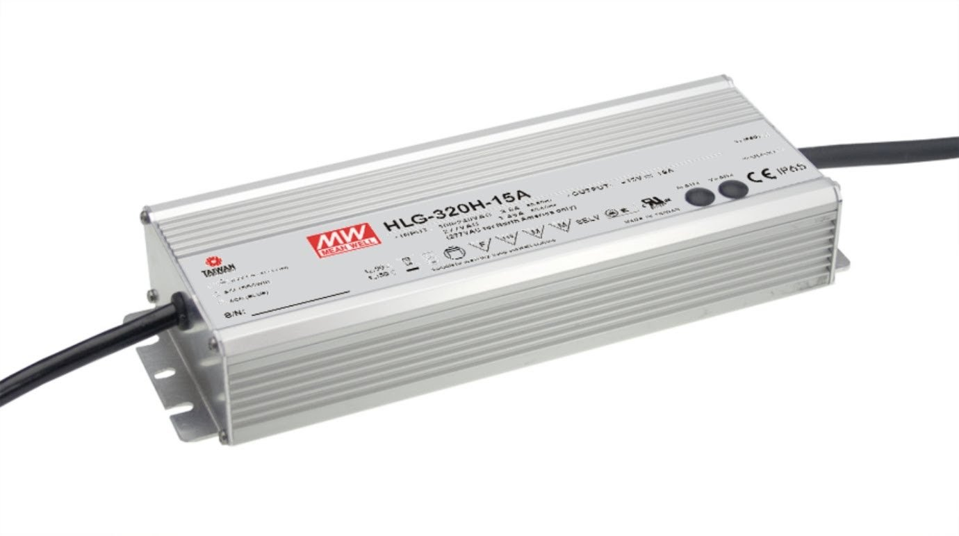 LED Driver 321.6W 48V 6.7A HLG-320H-48B Meanwell AC-DC SMPS HLG-320H Series MEAN WELL C.V+C.C Power Supply