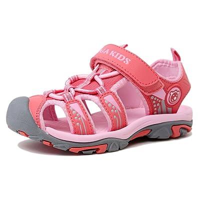 WANPUL Sandales Mixte Outdoor Sport Sandales d été Chaussure Plates Bout  Fermé Sandales Garçon Fille 54886eae442