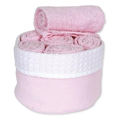6toallas para invitados, 30x 30, rosa pastel ...
