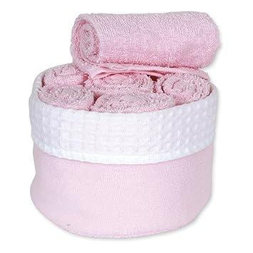6 toallas para invitados, 30 x 30, rosa pastel, 30 x 30: Amazon.es: Hogar