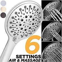 Massage Shower Head Best Handheld Shower Massage High Pressure Spray Hand Held Multi Function Detachable Shower Wand, Modern High Flow 2.5 GPM Jet Adjustable Chrome Shower Sprayer (HAND SHOWER ONLY)