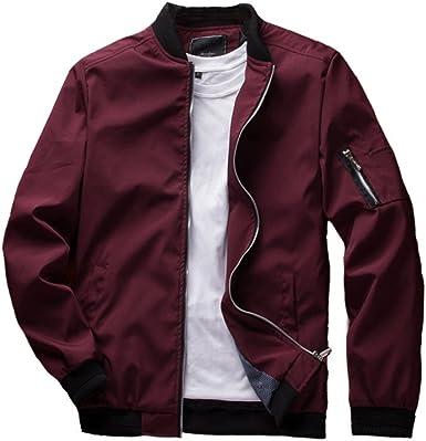 URBANFIND Men's Slim Fit Lightweight Sportswear Jacket Casual Bomber Jacket