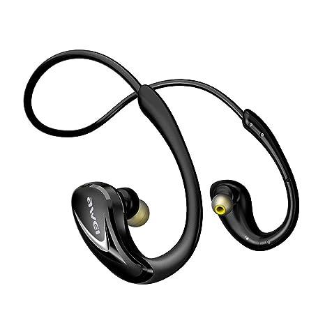 AWEI A880BL - Auriculares inalámbricos con Bluetooth para correr, deportivos, impermeables, Bluetooth