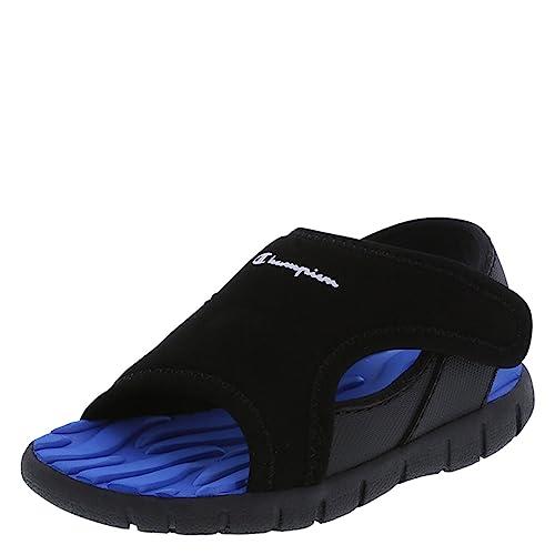 b0b524aa007 Amazon.com  Champion Boys Black Blue Boys  Infant Splash Sandal 2 Wide   Shoes