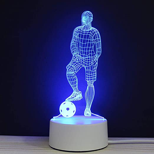 Souvenirs de fútbol LED Luces nocturnas en 3D Luces ...
