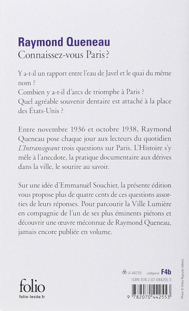 19e1eb447c8 Amazon.fr - Connaissez-vous Paris   - Raymond Queneau