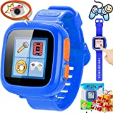 Kids 10 Games Smart Watch for Boys Girls Learning - Xenzy Over 3 Year Kids Smartwatch Touch Camera Pedometer Fitness Tracker Wristwatch Alarm Sport Watch Monitor Outdoor for Child Birthday Gift, Blue