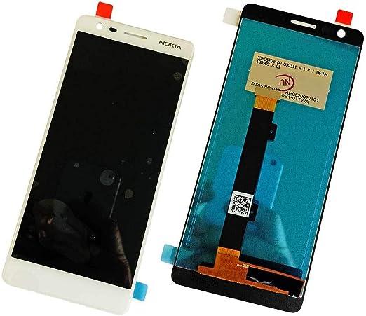 Mainhattan Mobile] Repuesto Nokia 3.1 2018 Display LCD con Pantalla Tactil Original, Blanco: Amazon.es: Electrónica