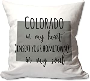 Pattern Pop Customized Colorado in My Heart [Your Hometown] in My Soul Throw Pillow