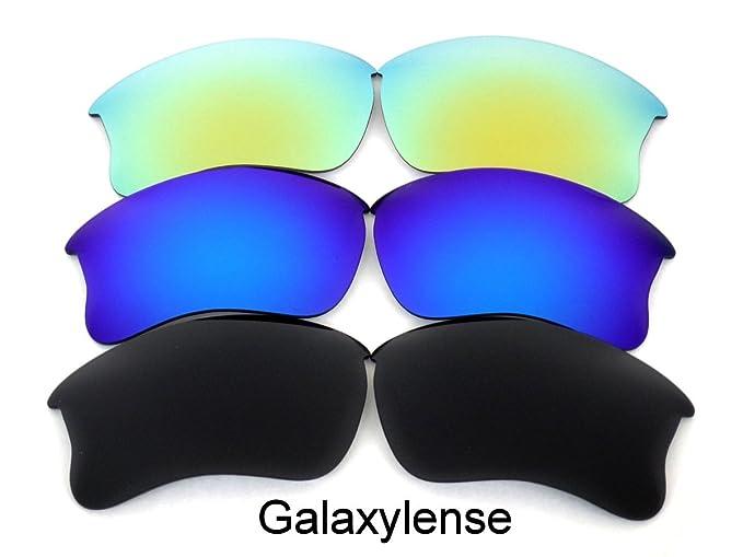 Galaxy Lentes De Repuesto Para Oakley Flak Jacket XLJ Polarizados negro, azul y dorado 3Pair