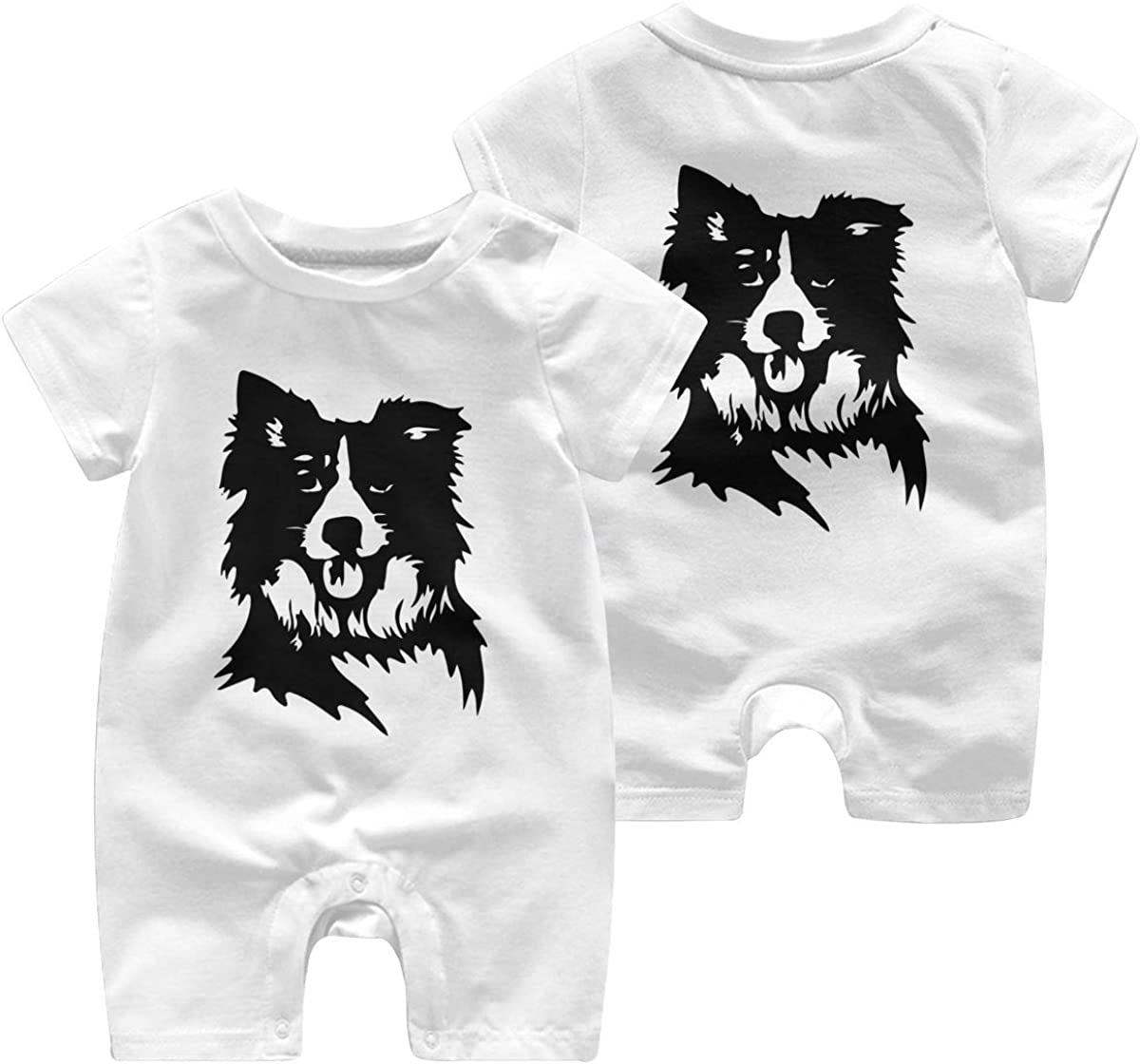 Mri-le1 Baby Boy Organic Coverall Border Collie Baby Clothes