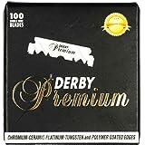 DERBY Barber Razor Cutting Premium Single Edge Blade 100 Count SR-05298