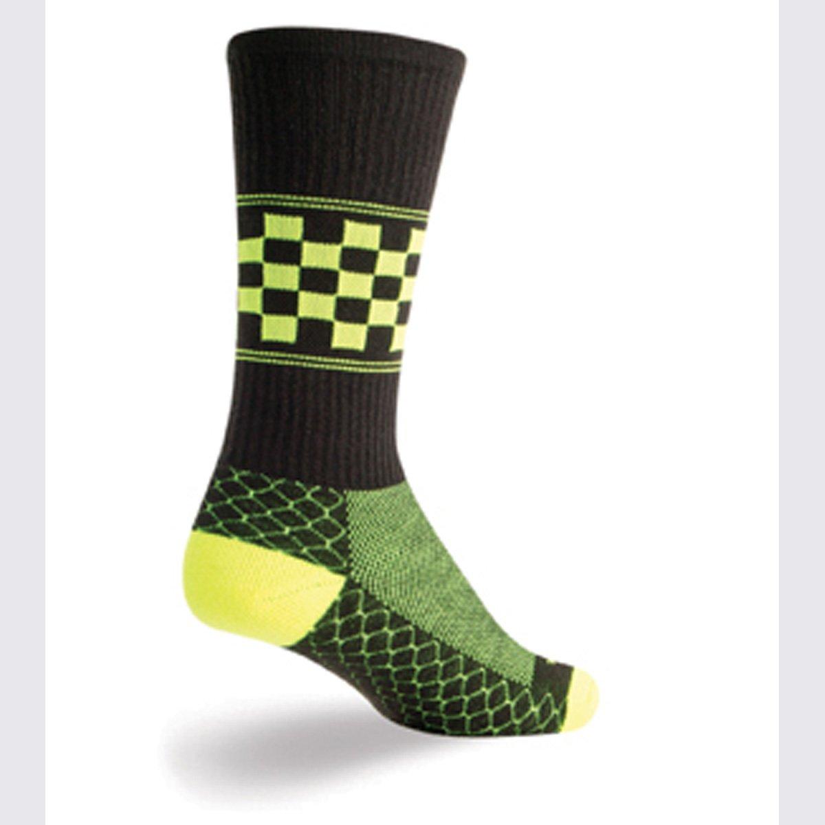 cb9d675f36ec6 Amazon.com : SockGuy Crew 8in LAX Chex Padded Lacrosse Socks : Sports &  Outdoors