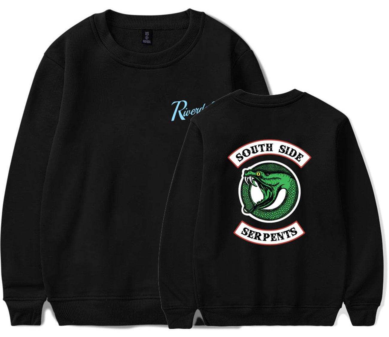 SERAPHY Unisex Riverdale Pullover Hoodie Southside Serpent Sweatshirt Black M