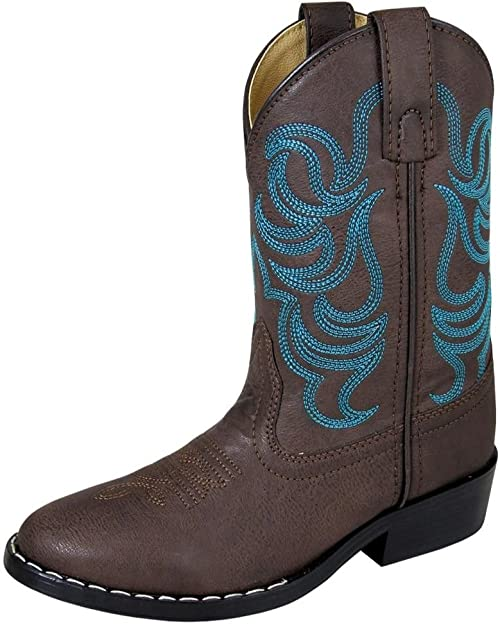 Smoky Mountain Boys Buffalo Western Boot Square Toe Brown 5.5 D