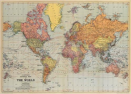 Amazon cavallini co world map decorative wrapping paper amazon cavallini co world map decorative wrapping paper 20x28 world map gumiabroncs Choice Image
