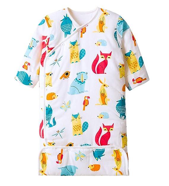 Happy cherry - Saco de Dormir para Bebés Recien Nacido 0-12 Meses Bolsa de Dormir Manga Larga Cálido para Invierno Otoño: Amazon.es: Ropa y accesorios