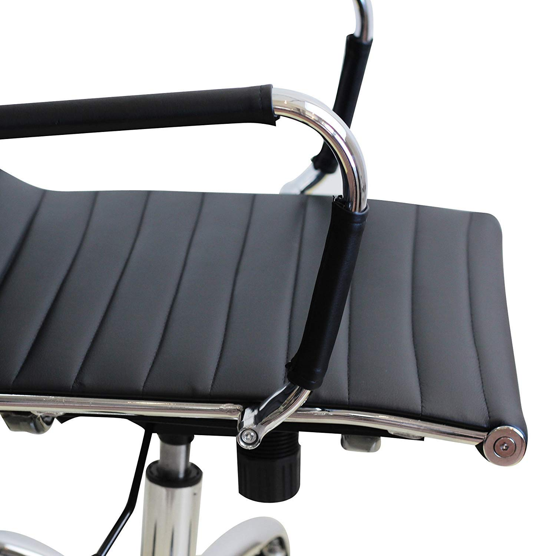 IDS Online MLM-18587 Folding Series Ergonomic Foldable Swivel Office Chair with Chrome Leg Black